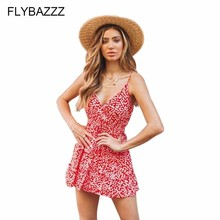 Women Summer Sexy V Neck Boho Dress Evening Sleeveless Party Beach Dresses Floral Sundress Elegant Short Dress Vestidos 2019 New women 2019 summer polka dot vintage dress sexy deep v neck sleeveless party sundress elegant casual belt beach dress plus size