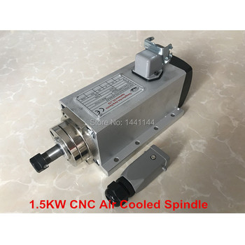 CNC Spindle 1.5KW Air Cooled Machine Tool Spindle Motor 220V 110V CNC Square Milling Machine Tools For Engraving