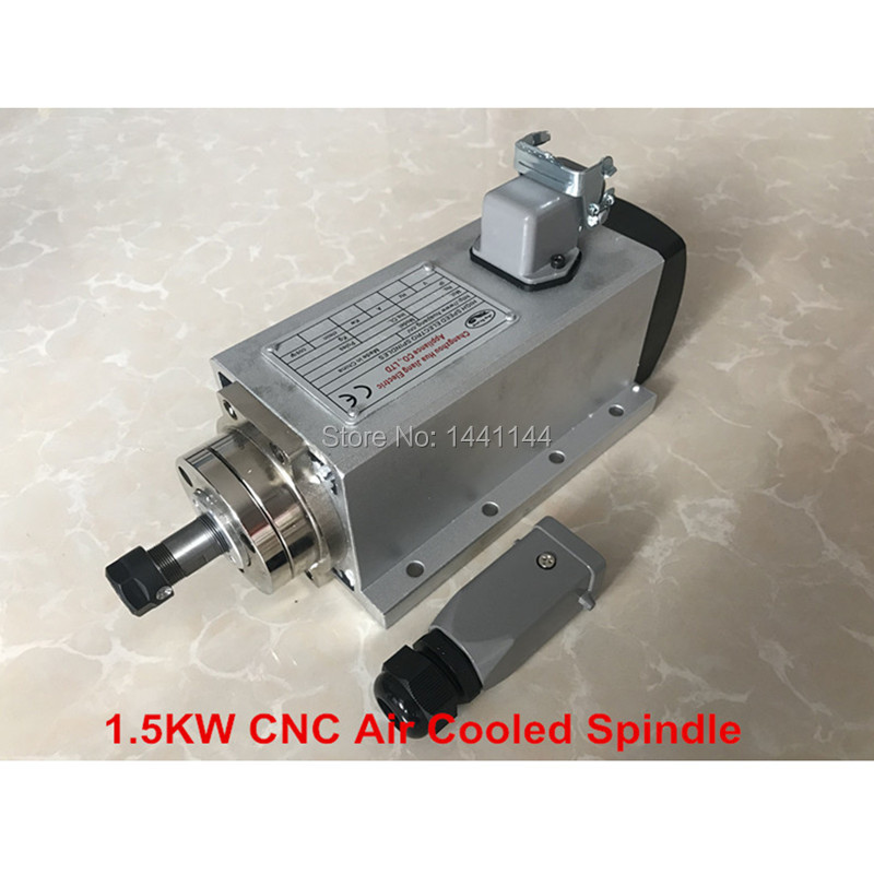 CNC <font><b>Spindle</b></font> 1.5KW Air Cooled Machine Tool <font><b>Spindle</b></font> <font><b>Motor</b></font> 220V <font><b>110V</b></font> CNC Square Milling Machine Tools For Engraving image