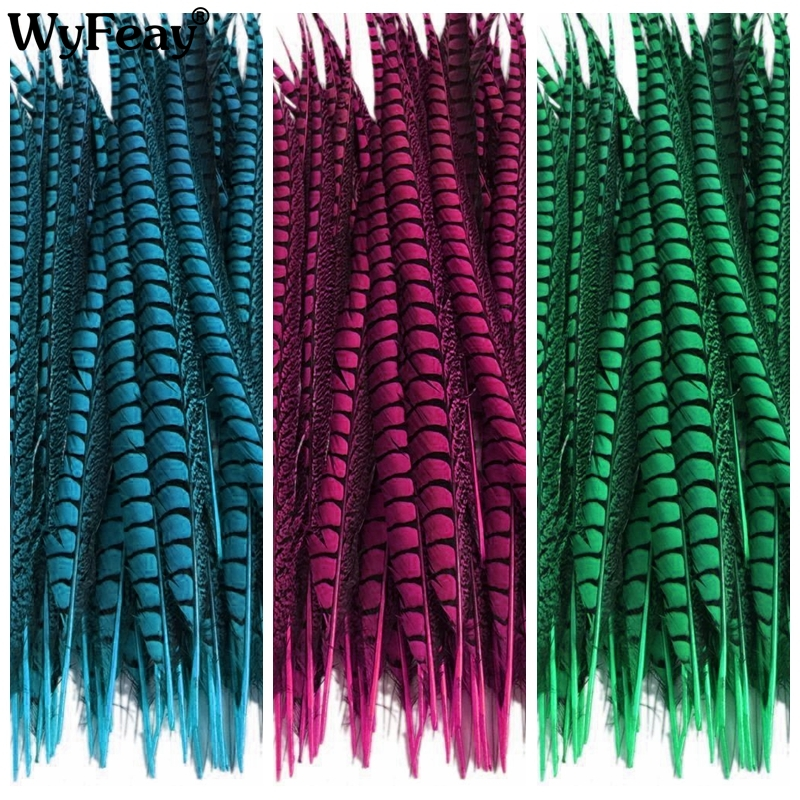 Wholesale 100 Pcs Lot 12 14inch 30 35cm Lady Amherst Pheasant Tail Feathers Wedding Decorations Natural
