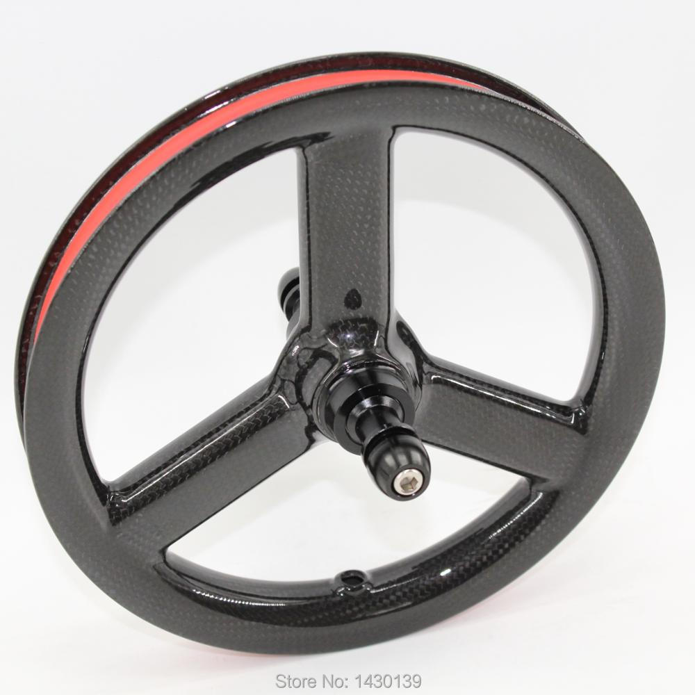 New 12 inch clincher rim 3 spoke Slide car scooter push bike glossy 3K full carbon fibre bicycle Tri-spoke wheels 12er Free shipNew 12 inch clincher rim 3 spoke Slide car scooter push bike glossy 3K full carbon fibre bicycle Tri-spoke wheels 12er Free ship