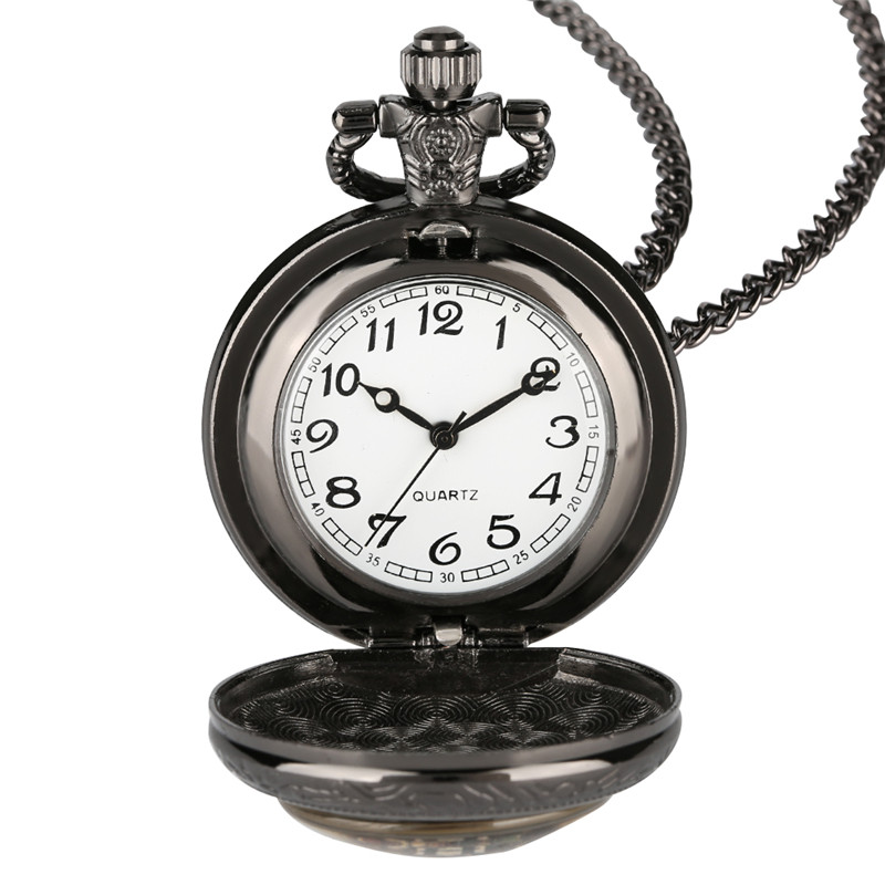 Wall Clock Retro Pocket Watch For Men Woman Decorative Pocket Watch With Chains Bronze Case Pocket Watch Gift For Kid
