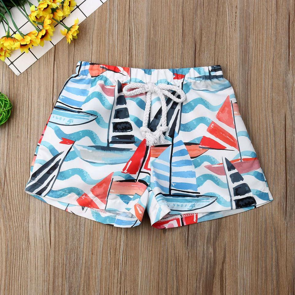 Aaaaamber Toddler Baby Kids Boys Summer Short Hawaiian Beach Printed Short Pant Elastic Waist 6M-4T