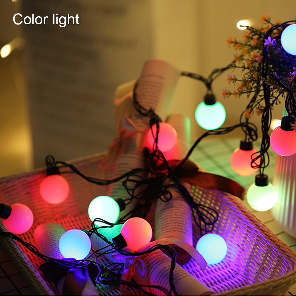 5.5M/18ft USB LED Ball String Street Garlands Holiday Christmas New Year's Wedding Decoration Fairy Light For Outdoor Led String