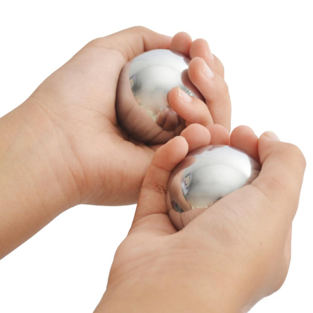 2pcs 55mm Rehabilitation Solid Hand Massage Ball Health Care Ball Beautiful And Durable Health Care Ball Exercise Your Body