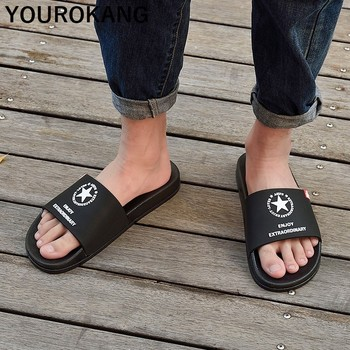 Men Summer Slippers Fashion Couple Lovers Beach Shoes Unisex Soft Bathroom Home Slippers Cool Outdoor Flip Flops New Arrival 1