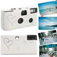 Пленочная камера 36 фото белая фотовспышка HD одноразовая пленка для однократного использования камера для вечеринки, дня рождения, Дня Свят...