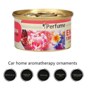 c0165255f Ambientador de aire para coche bálsamo sólido para coche Perfume lata  fragancia caja adorno desodorante hogar Oficina Coche-estilo