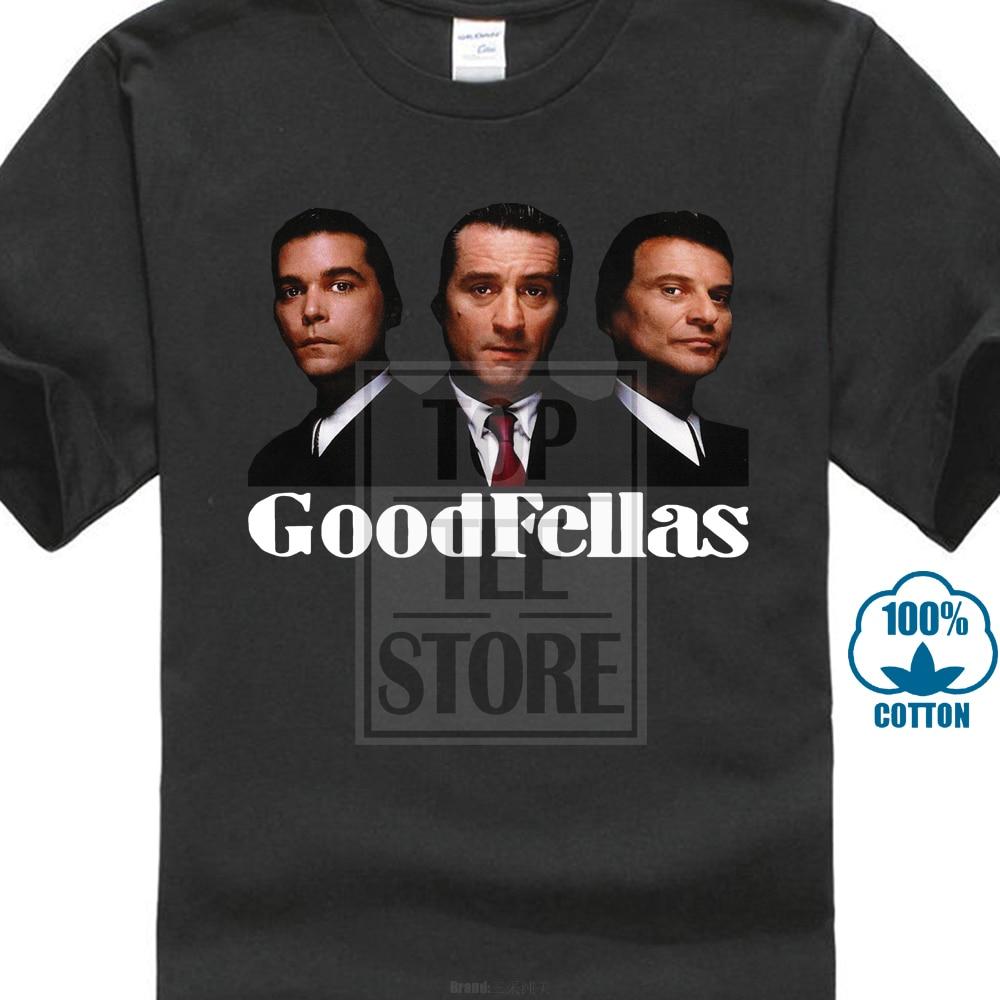 100% Cotton Tee Shirt For Men Goodfellas Wise Guys Gangster 90S De Niro Pesci Mafia T Shirt