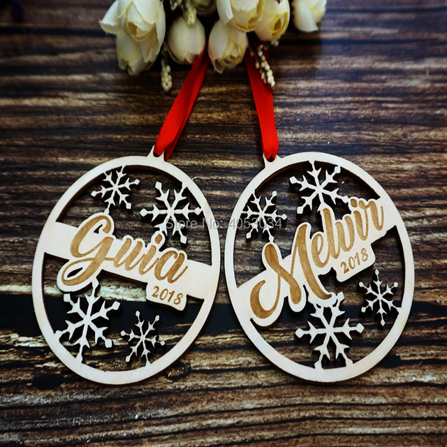 personalized engraved wooden christmas ornament engraved wooden gift