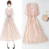 2019 summer vestidos Improvement Of Tang DressTraditional Chinese Dress Element Fairy Embroidered Daily Dress japan korea style
