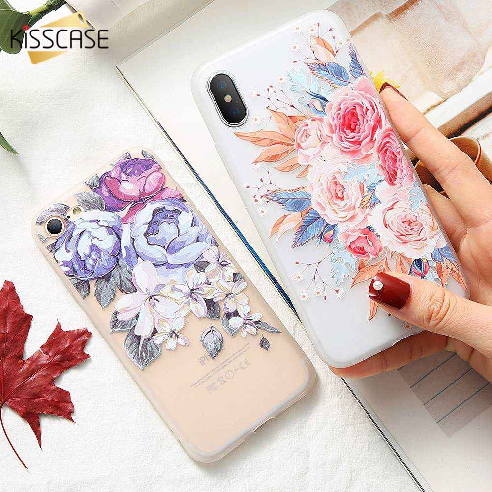 KISSCASE Flower Phone Cases For Huawei Honor 10 9Lite 8X 8C Nova 2 Nova 3i Case Soft Silicone Case For Honor PLAY 7X 7A V9 Cover