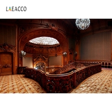 Laeacco Palace Interior Arch Door Window Stairs Photography Backgrounds Customized Photographic Backdrops For Photo Studio