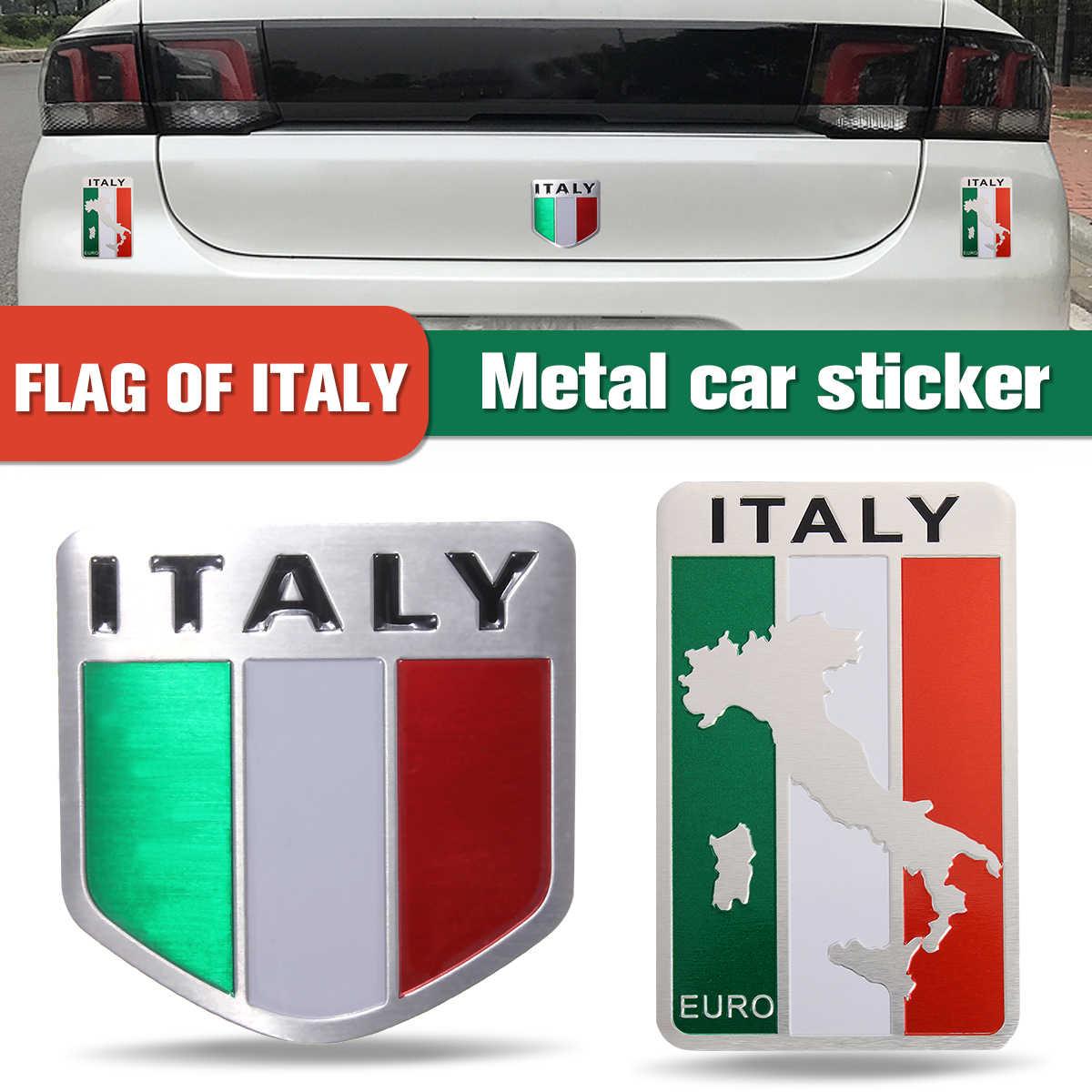 5 センチ × 5 センチ自動合金金属 3D エンブレムバッジレースポーツためイタリアイタリア国旗