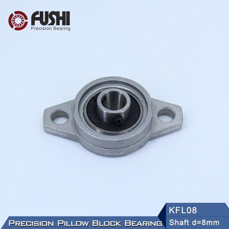 5X KFL08 8mm Mounted Block Cast Housing Self-aligning Pillow Bearing DT