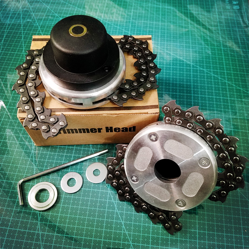 Universal Trimmer Head Coil Chain Brush Cutter Garden Grass Trimmer Head Upgraded With Thickening Chain For Lawn Mower Available In Various Designs And Specifications For Your Selection Grass Trimmer