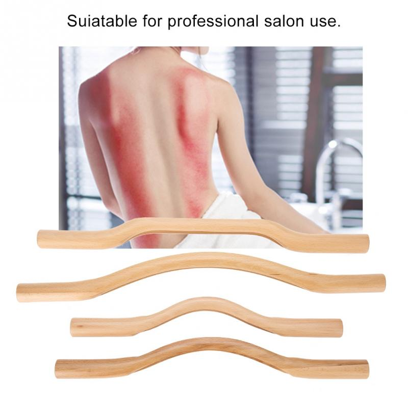 4 pcs/ensemble bois massif Bâtons de Santé Grattage Guasha Conseil Longue Taille Gua Sha Outil Corps massage thérapeutique Minceur Façonner Beauté