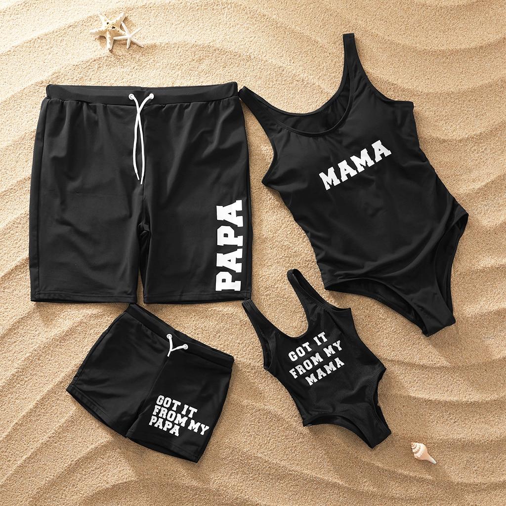 e0c2d3b83def6 Коллекция 2019 года, модный семейный купальный костюм цельная одежда для  плавания для мам и девочек мужские плавки для мальчика, купальная од.