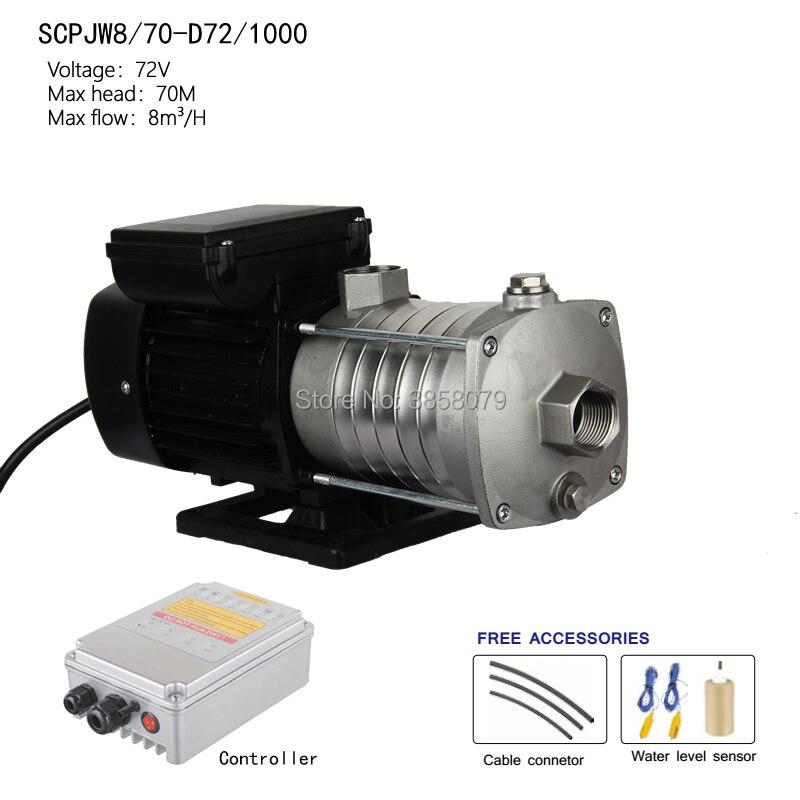 Pompe centrifuge sans courant continu, pompe solaire de surface, pompe de suralimentation solaire SCPJW8/70-D72/1000