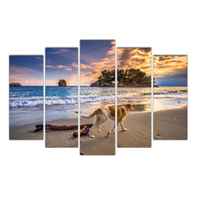 5 Piece Hot Sell Modern Wall Painting Wall Poster Stray Dogs Home Decorative Modular Picture Print On Canvas No Frame