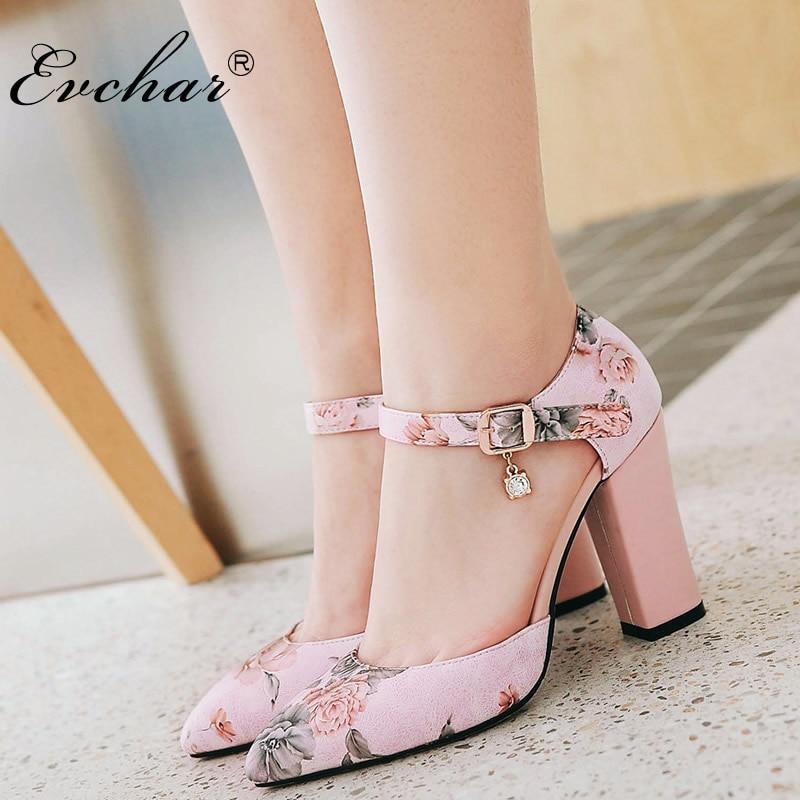 Nouveauté Imprimé Floral sandales femmes Slingback Datant chaussures pour femmes D'été boucle sangle Super Haute Talon chaussures grande taille 31-46