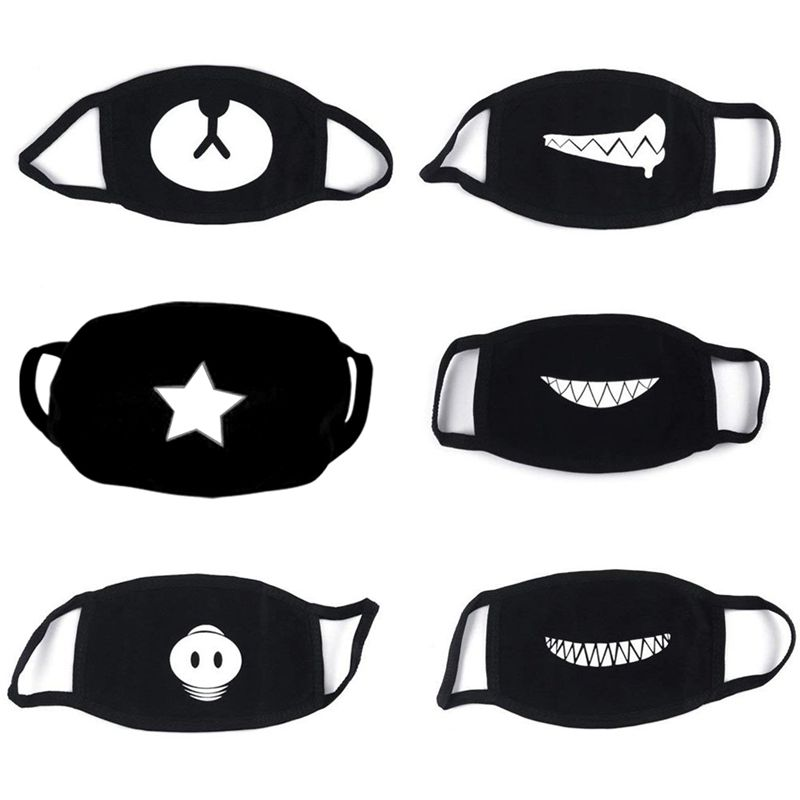 NEW-6Pieces Cotton Masks, Unisex Reusable Mouthguard, Anti-Fog Mask, Cold Protection Face Mask, Unisex Reusable Kawaii For Mal