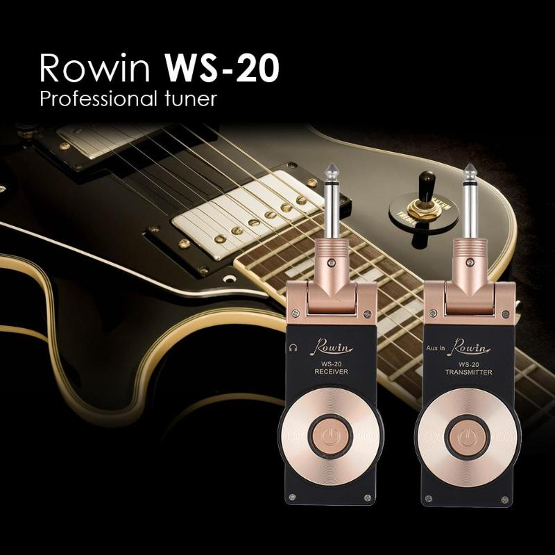 Receiver Set Transmission Range +Rowin WS-20 2.4G Wireless Rechargeable Electric Guitar Transmitter