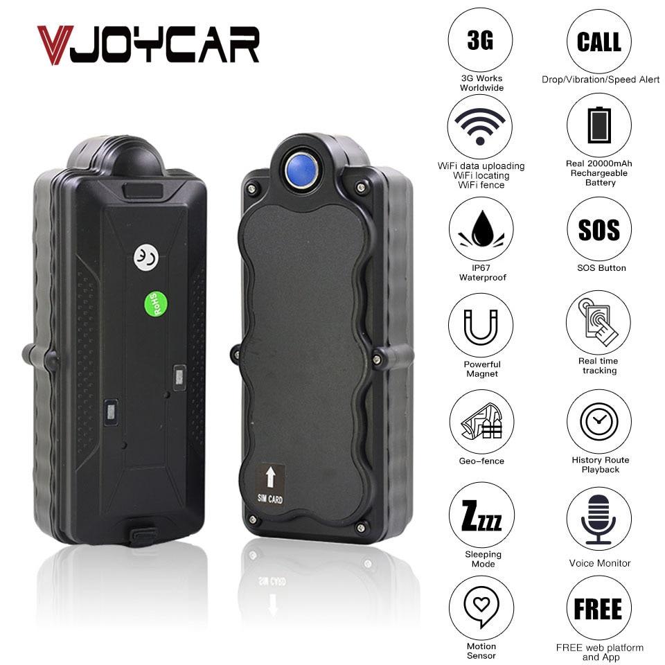4G 3G GPS Tracker Car TK20G Magnet Waterproof Portable 20000mAh Battery  WiFi Motion Drop Alarm Free