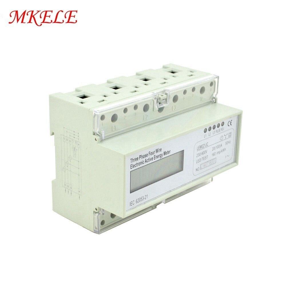 Offre spéciale MK-LEM021JC triphasé Din Rail KWH Watt heure Din-rail compteur d'énergie LCD