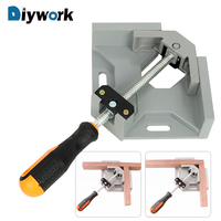 DIYWORK 90 Degree Corner Right Angle Clamp Woodworking Welding Positioner Welding Fixed Clip Quick Assembly Fixture