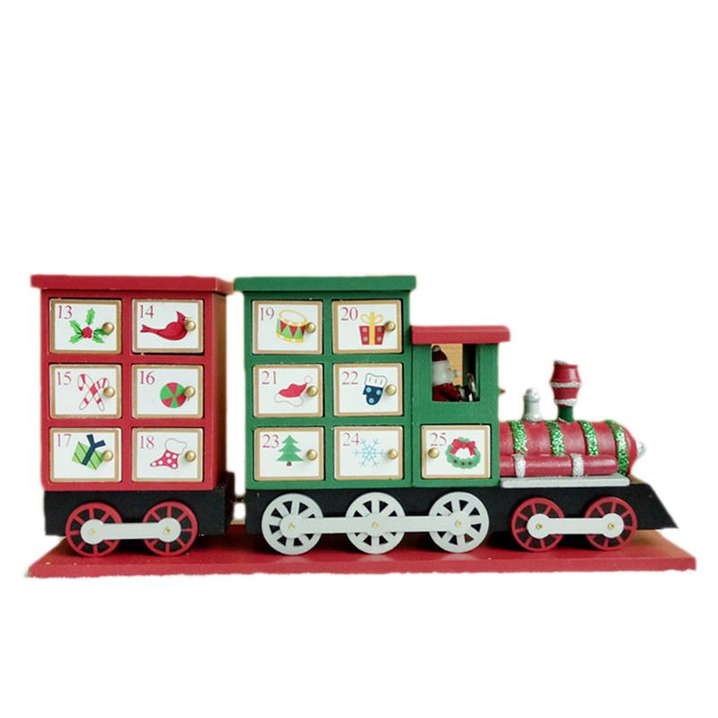 1pc Advent Calendar Train Shape Lovely Decorative Calendar Advent Calendar Christmas Calendar For Christmas Gifts Decorations