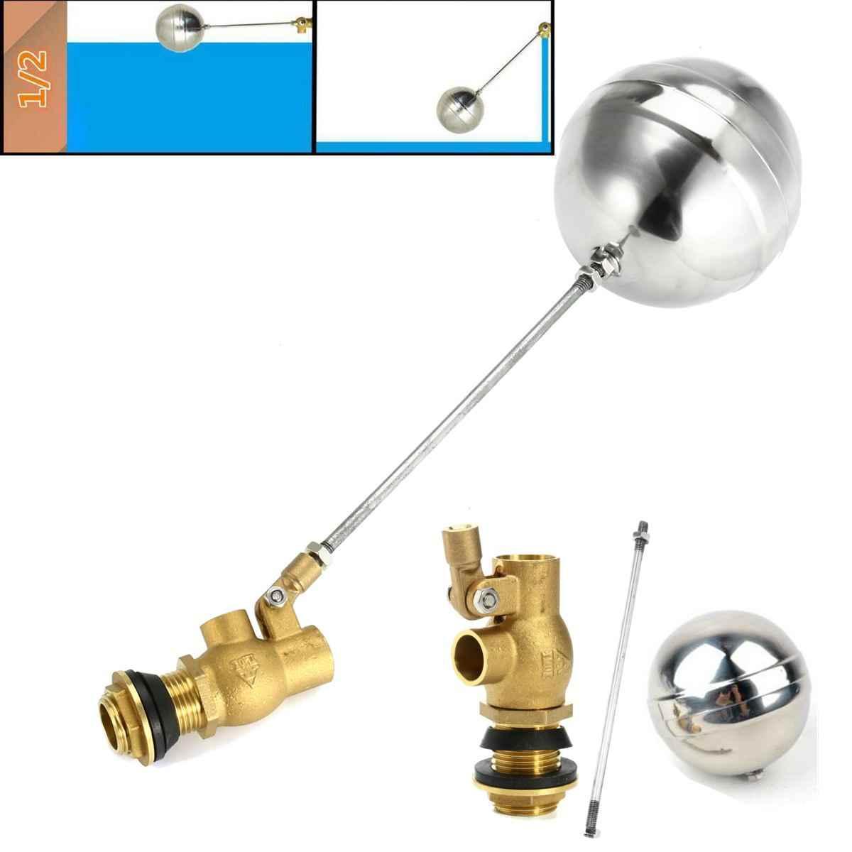 """DN15 DN20 DN25 zimna i ciepła zbiornik wody poziom cieczy metalowy zawór pływakowy 1/2 """"3/4"""" korpus mosiężny zawór wc"""