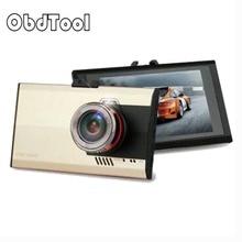 Tachigrafo Ultra-sottile 1080 p HD Super Wide-angle Fisheye Macchina Fotografica di Visione Notturna di Chip Dual Core DVR Videocamera per auto grigio Oro 2 di Colore