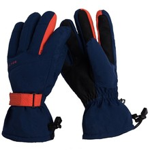 Ski Gloves Extra Thick Snow Winter Sport Snowboard Synthetic Insulation Warm Waterproof Windproof Skiing Men Outdoor Blue Orange