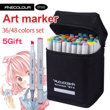 Finecolour Alcohol Art Marker Color Pen Artist Double Headed Sketch Marker 36 48 Set EF101 Markers for Drawing