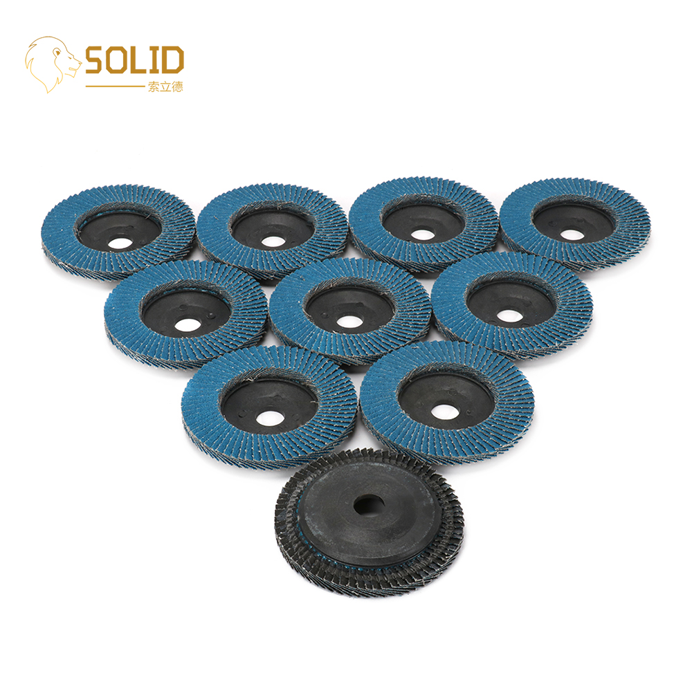 4 Inch 60/80 Grit Sanding Flap Discs Grinding Polishing Wheels With 5/8