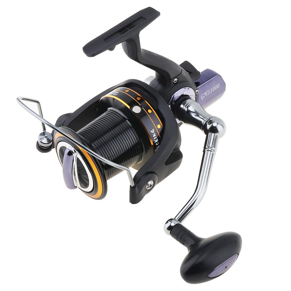 11000 Series 13 1 Ball Bearing 4 1 1 Fishing Reel Trolling Long Shot Casting Big Sea Spinning Wheel left right interchanged in Fishing Reels from Sports Entertainment