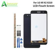Alesser LG K9 X2 X210 LCD ekran ve dokunmatik ekran Digitizer meclisi LG için yedek parça K9 X2 X210 + araçları + yapıştırıcı