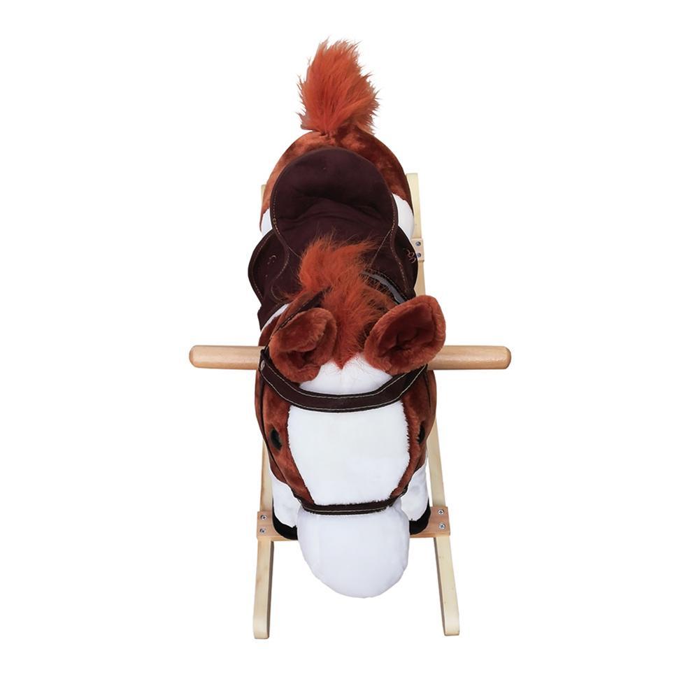 Bonne vie!!! 3-8 ans jouet mécanique à bascule à cheval pour enfants musique poney jouets anniversaire enfants cadeaux pour garçon fille - 4