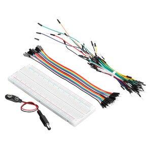 Image 3 - ใหม่ส่วนประกอบอิเล็กทรอนิกส์ Junior Starter ชุดตัวต้านทาน Breadboard Power Supply โมดูลสำหรับ Arduino พลาสติกกล่องแพคเกจ