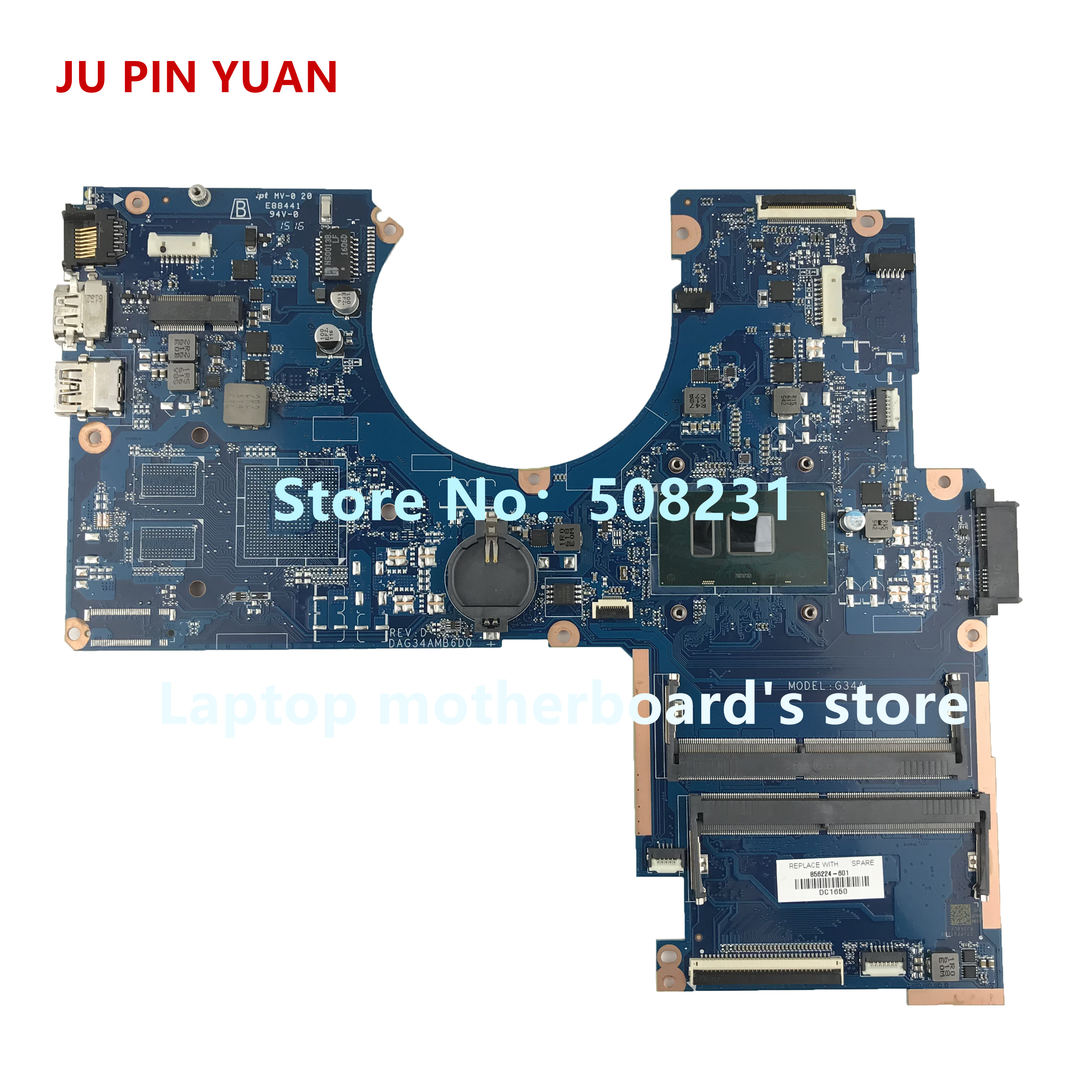 Ju Pin Yuan 856224-501 856224-601 G34a Dag34amb6d0 Mainboard For Hp Pavilion Notebook 15-au 15t-au Laptop Motherboard I5-6200u Diversified In Packaging Computer & Office
