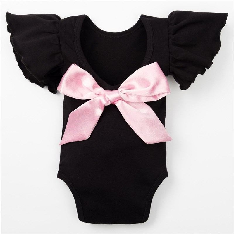 Bodysuit baby Crumb I Pink bow, height 62-68 cm (22), 3-6 month. bodysuit sleeveless lace crumb i tropics 3 12 mo