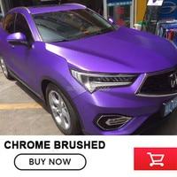 Good Quality Chrome Metallic Brushed Aluminum Vinyl Metal vinyl Car Wrap Film Purple Car Sticker Styling Auto Foil Decoration