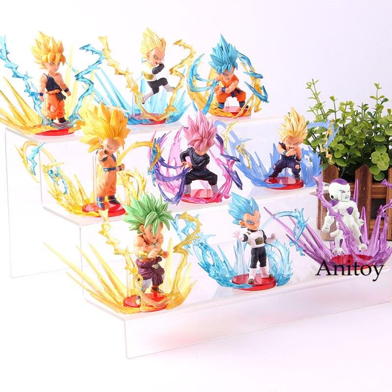 Figurine Dragon Ball Super Saiyan fils Goku Broly Frieza végéta rafale fils Gohan PVC Collection jouet 9 pièces/ensemble