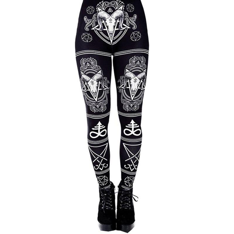 Summer Women Fitness   Leggings   Streetwear Gothic Print Casual Leggins Push Up Sexy Plus Size 5XL Workout Black High Waist   Legging
