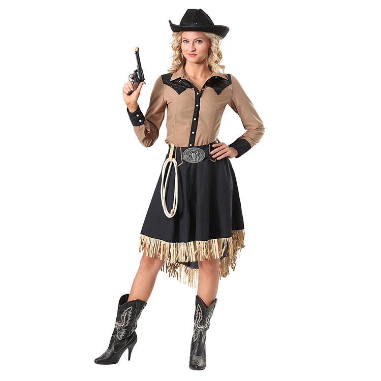 New Arrival Memune Western Cowgirl Party Adult Halloween Cosplay Costumes For Women