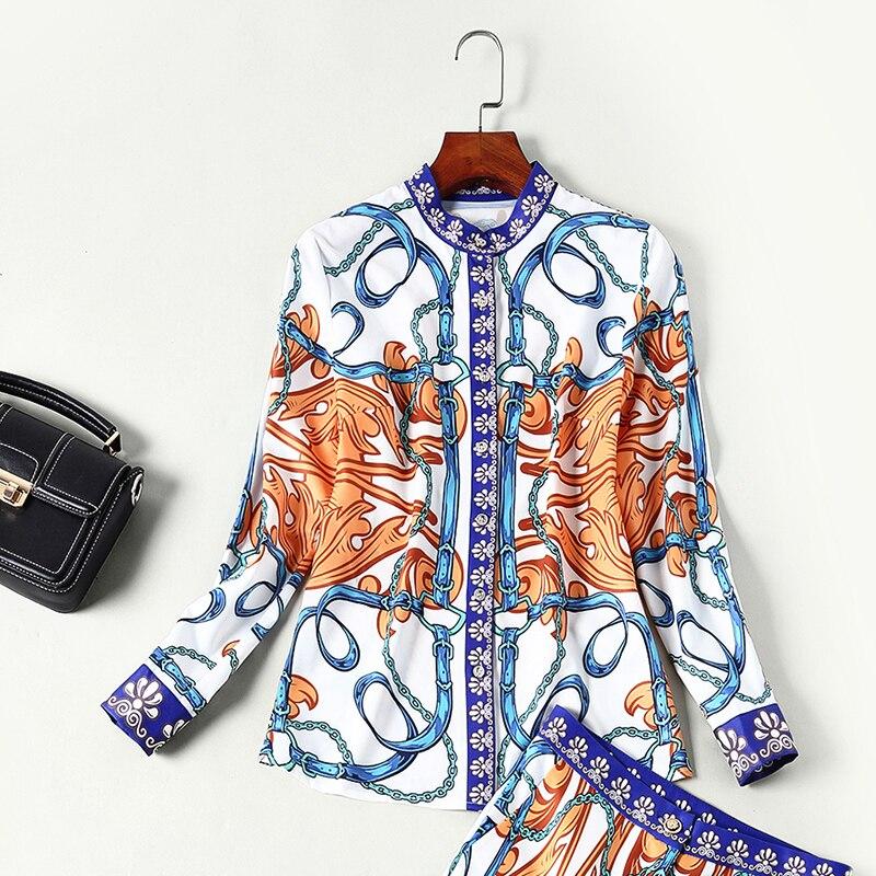 Collar Au unis Les Deux Costume Nouveau pièce Et Turn Chemise Europe Deux Lady Imprimer Lvydala pièce down Bureau Printemps États n8E4Iq6wxX