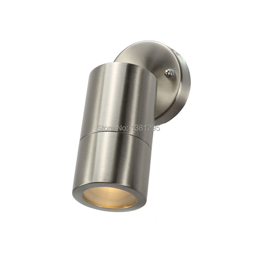 10pcs Outdoor Wall Lamp Stainless Steel Adjustable GU10 LED Exterior Wall Light Waterproof IP65 House Garden Ceiling Spotlight-in LED Outdoor Wall Lamps from Lights & Lighting    1