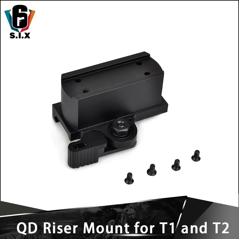 QD Riser Mount for T-1 and T-2 Tactical <font><b>T1</b></font> <font><b>Red</b></font> <font><b>Dot</b></font> Mount <font><b>Scope</b></font> Accessory image