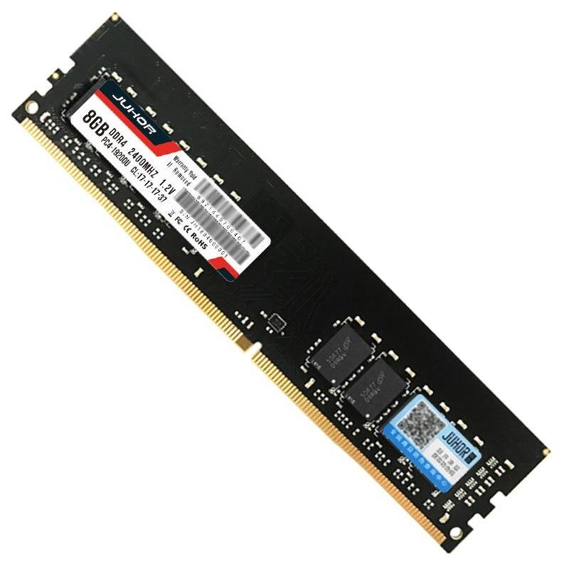 Juhor Ddr4 2400 Mhz 1.2 V 288 Broches mémoire ram Pour pc de bureau (8G)